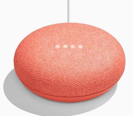 Google Home Mini Coral Color Blgt