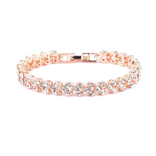 Bracelet With Artificial Diamond Inlaid Glamorous Female Crystal Rose Gold