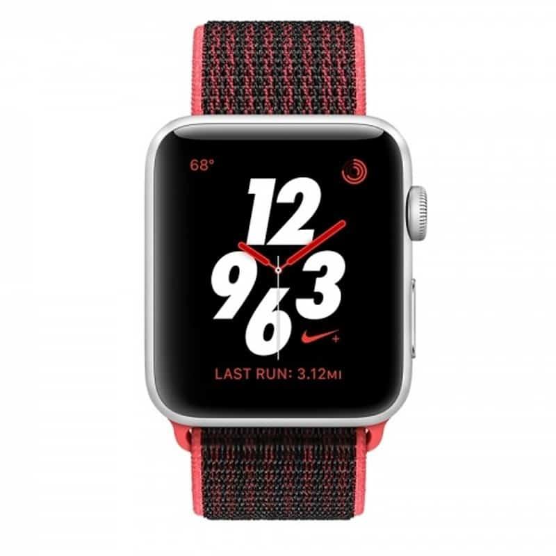 Marca comercial Para llevar Cuatro  Apple Watch Series 3 Nike+ MQLE2 42mm Silver Aluminum Case With Bright  Crimson / Black Nike Sport Loop (GPS + Cellular) - BLGT