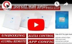 Sonoff T1 UK: 1 Gang WiFi & RF 86 Type Smart Wall Touch