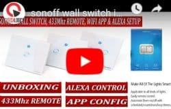 SONOFF T1 EU AC90V-250V 600W Smart WIFI Switch - BLGT